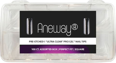 PRE-ETCHED PRO GEL NAIL TIPS SQUARE