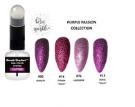 BRUSH + DAUBER™ GLITTER LACQUER (NAIL POLISH) | DUO APPLICATION ARTISAN BOTTLE + Born To Sparkle™  | PURPLE PASSION COLLECTION