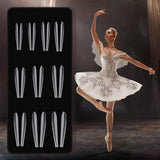 "PRE-ETCHED® Pro Gel Tip™ ""Ballerina"" Clear Full Cover Nail Tips - NO-WELL - 400 CT. PRO BOX"