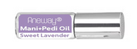 Mani + Pedi™ CUTICLE OIL  - infused with *Sweet Lavender (EO) - Travel Size Glass Bottle (Roll-On) - Never Sticky or Greasy!