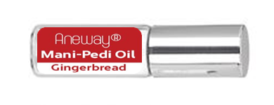Mani + Pedi™ CUTICLE OIL - infused with *Gingerbread (EO) - Travel Size Glass Bottle (Roll-On) - Never Sticky or Greasy!