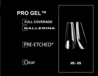 PRE-ETCHED® Pro Gel Tips™ Ultra Clear Full Cover Nail - 20 CT. TRIAL SIZE PACKAGE -