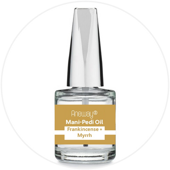 Mani + Pedi™ CUTICLE OIL  - infused with *Frankincense-Myrrh (EO) - 1/3 FL. OZ.  (Full-Size) Glass Bottle (Brush-On) - Nourishing Cuticle + Aromatic Skin Care - Never Sticky or Greasy!