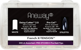 Aneway® French X-TENSION™ FULL COVER - PRE-ETCHED® Pro Gel Nail Tip Extension System - DELUXE KIT - NATURAL/STILETTO