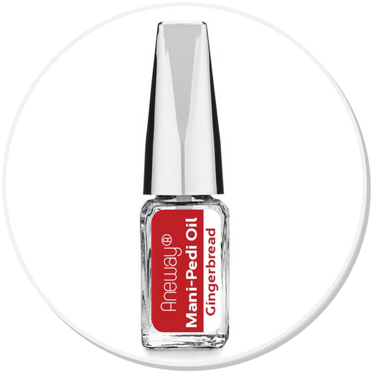 Mani + Pedi™ CUTICLE OIL - infused with *Gingerbread (EO) - Travel Size Glass Bottle (Brush-On) - Never Sticky or Greasy!