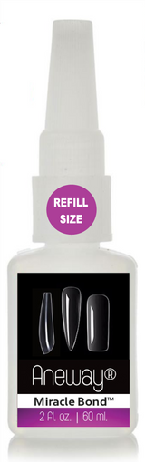 "Aneway® Miracle Bond™ Ultra 'FLEXIBLE"" Nail + Tip Gel Adhesive - THE BIG BOTTLE - 2 FL. OZ. REFILL SIZE"