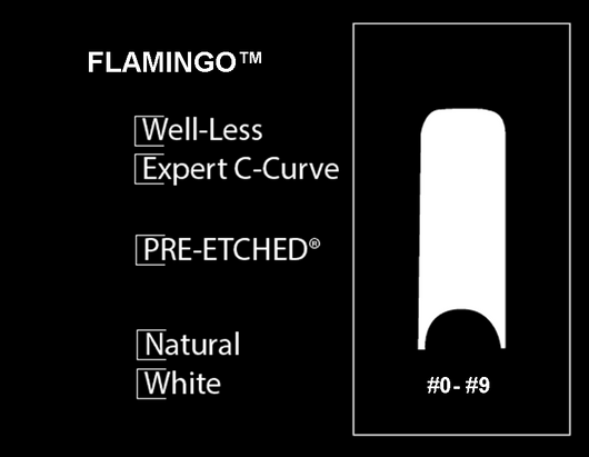 400 CT. - PRE-ETCHED® FLAMINGO™ Pro Nail Tips