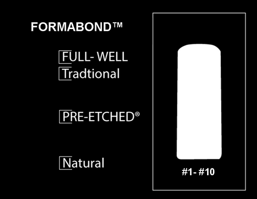 400 CT. - PRE-ETCHED® FORMABOND™ - PRO NAIL TIPS - NATURAL