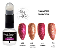 BRUSH + DAUBER™ GLITTER LACQUER (NAIL POLISH)  | DUO APPLICATION ARTISAN BOTTLE + Born To Sparkle™ | PINK DREAM COLLECTION