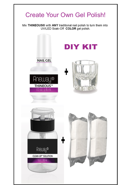 PRO COLOR™ GEL NAIL POLISH KIT - MAKE YOUR OWN GEL NAIL COLOR!