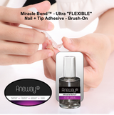"Miracle Bond™ - Ultra ""FLEXIBLE"" Nail + Tip Gel Adhesive"