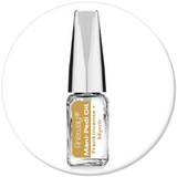 Mani + Pedi™ CUTICLE OIL  - infused with *Frankincense-Myrrh (EO) - (Travel Size) Glass Bottle (Brush-On) - Nourishing Cuticle + Aromatic Skin Care - Never Sticky or Greasy!