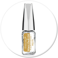 Mani + Pedi™ CUTICLE OIL  - infused with *Frankincense-Myrrh (EO) - Travel Size Glass Bottle (Brush-On) - Never Sticky or Greasy!
