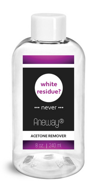 Aneway® Acetone Remover Solution - Never Leaves A Chalky Residue After Soaking or Removing! Oatmeal, Milk & Honey (F.O).