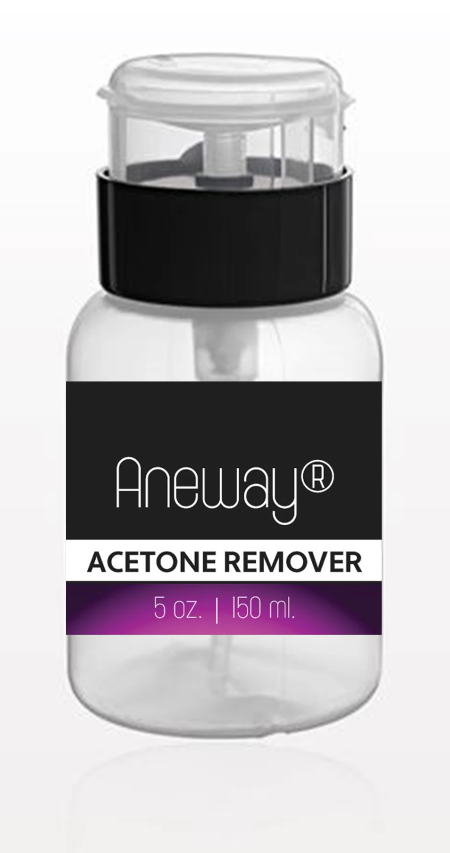 Aneway® Acetone Remover + One Touch Dispensing w/Locking Flip Top Snap Cap Container