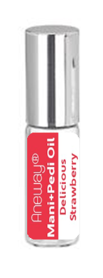 Mani + Pedi™ CUTICLE OIL - infused with *Delicious Strawberry (EO) - (Travel Size) Glass Bottle (Roll-On) - Never Sticky or Greasy!