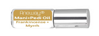Mani + Pedi™ CUTICLE OIL  - infused with *Frankincense-Myrrh (EO) - Travel Size Glass Bottle (Roll-On) - Never Sticky or Greasy!