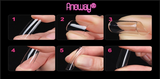 "PRE-ETCHED® Pro Gel Tip™ ""SQUARE"" Full Cover Well-Less Nail Tips - 40 CT. REFILL PACKAGE"