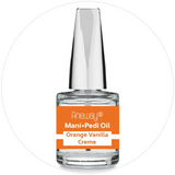 Mani + Pedi™ CUTICLE OIL  - infused with *Orange Vanilla Creme (EO) - 1/3 FL. OZ.  (Full-Size) Glass Bottle (Brush-On) - Nourishing Cuticle + Aromatic Skin Care - Never Sticky or Greasy!