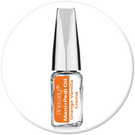 Mani + Pedi™ CUTICLE OIL  - infused with *Orange Vanilla Creme (EO) - Travel Size Glass Bottle (Brush-On) - Never Sticky or Greasy!