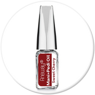 Mani + Pedi™  CUTICLE OIL - infused with *Sweet Cherry (EO) -  Travel Size Glass Bottle (Brush-On) - Never Sticky or Greasy!