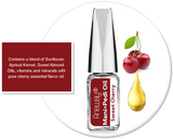 Mani + Pedi™  CUTICLE OIL - infused with *Sweet Cherry (EO) -  (Travel Size) Glass Bottle (Brush-On) - Nourishing Cuticle + Aromatic Skin Care - Never Sticky or Greasy!