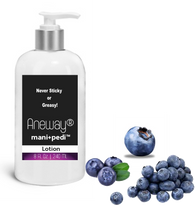 Aneway® Mani+Pedi™ CARE - Hand & Body Lotion - Blazin' Blueberry (F.O) - 8 Oz. Clear Bottle -  Never Sticky or Greasy!