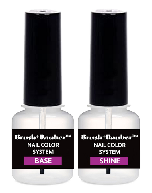 Aneway® BRUSH + DAUBER™ | (DFT) SMOOTH LACQUER BASE COAT plus SEAL + SHINE GLOSSY TOP COAT Instant Dry! LACQUER