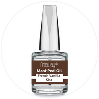 Mani + Pedi™ CUTICLE OIL - infused with *French Vanilla Kiss (EO) - 1/3 FL. OZ.  (Full-Size) Glass Bottle (Brush-On) - Never Sticky or Greasy!
