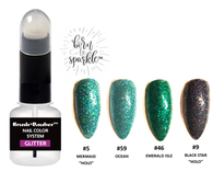 New BRUSH + DAUBER™ | DUO ARTISAN BOTTLE + Born To Sparkle™ COLOR GLITTER LACQUER (NAIL POLISH) ISLAND ESCAPE COLLECTION