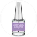 Mani + Pedi™ CUTICLE OIL  - infused with *Sweet Lavender (EO) - 1/3 FL. OZ.  (Full-Size) Glass Bottle (Brush-On) - Never Sticky or Greasy!