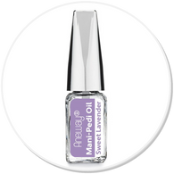 Mani + Pedi™ CUTICLE OIL  - infused with *Sweet Lavender (EO) - Travel Size Glass Bottle (Brush-On) - Never Sticky or Greasy!