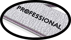 Aneway® PROFESSIONAL Zebra 80/80 Grit Cushioned Pro Nail File - Washable & Disinfect-able