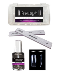 PRE-ETCHED® Pro Gel™ Ultra Clear Full Cover Pro Gel Nail Tips  - ENHANCEMENT KIT - SQUARE