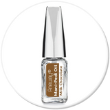 Mani + Pedi™ CUTICLE OIL   - infused with *Milk Chocolate (EO) - Travel Size Glass Bottle (Brush-On) - Never Sticky or Greasy!