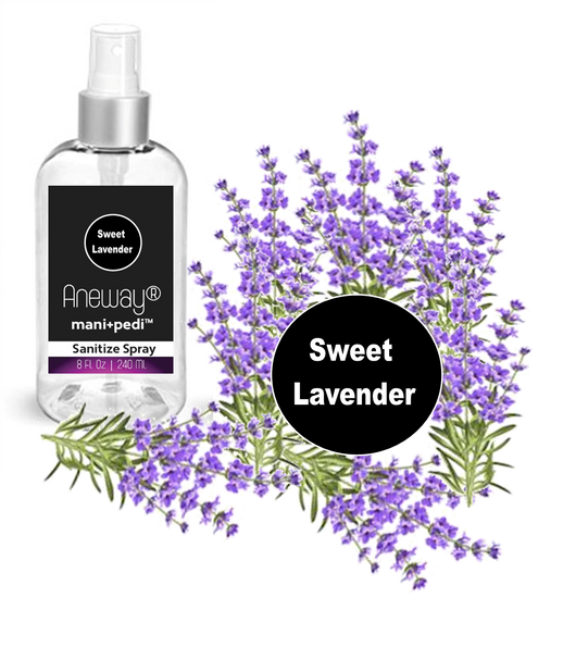 Aneway® Mani+Pedi™ CARE Sanitize Spray - Sweet Lavender - Your First Line of Defense!