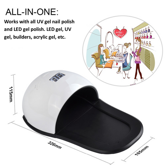 UV/LED Nail Lamp | For Hands And Feet! | 2 IN 1 | Cures Both UV and LED Gel