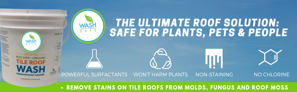 how to clean a tile roof, the best way to remove moss, mold, black algae, lichen