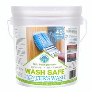 wash safe, painter's wash, premium pre paint solution, paint walls, paint prep, wall cleaner, contractor, pressure washing, biodegradable