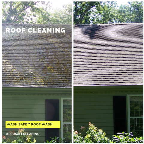 Roof, Cleaning, Roof Wash, Pressure Washing, Chemicals, Cleaner, Wash Safe, How to Clean Your Roof, Moss, Asphalt, Mold, Algae, Moss, Stains,