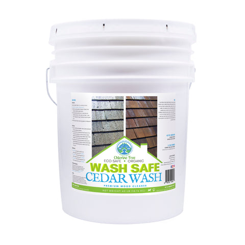 Image of Cedar Wash 10 pounds, cedar siding, cedar shakes, cedar shingles, cleaning cedar siding with oxygen bleach, how to clean cedar wood, power washing and staining cedar siding