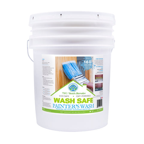 Image of wash safe, painter's wash, premium pre paint solution, paint walls, paint prep, wall cleaner, contractor, pressure washing, biodegradable