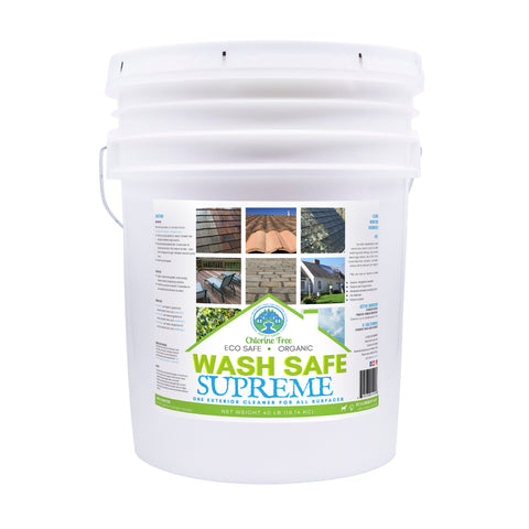 Image of Wash Safe Supreme pressure washing cleaner formula biodegradable cleaning solution pressure washing chemicals, roof cleaning, deck cleaning, concrete cleaning, all purpose, exterior cleaner, jr chemical coatings, wash safe, best pressure washing solution, cleaner