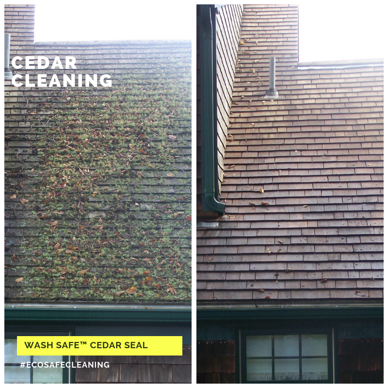 wash safe cedar seal how to clean cedar shakes shingles roofing cleaning eco safe
