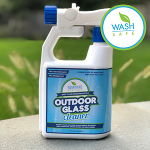 Eco-Safe Outdoor Glass Cleaner - Great for Glass Windows, Solar Panels, Skylights, Greenhouses & More