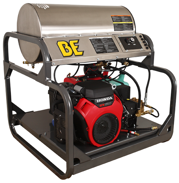 BE Pressure Washer 688cc Honda Hot Water