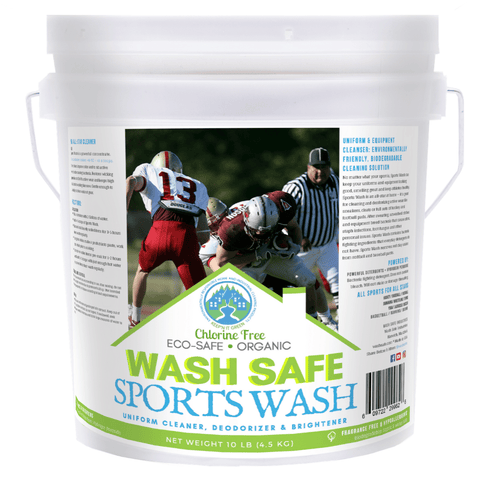 Image of wash safe, sports wash, uniform cleaner, uniform detergent, tough stains, deodorizer, stain remover, sports uniform, jock, baseball, basketball, football, soccer, lacrosse, gear, equipment, detergent, extra strength