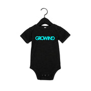 GROWING | BABY SHORT SLEEVE ONE PIECE [NOIR]
