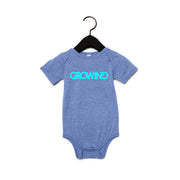 GROWING | BABY SHORT SLEEVE ONE PIECE [DENIM]