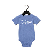 SELF LOVE | BABY SHORT SLEEVE ONE PIECE [DENIM]